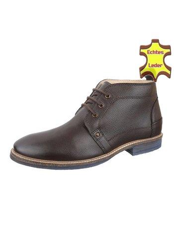 COOLWALK Heren Echte Leren casual boot van COOLWALK - Bruin