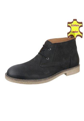 COOLWALK Chaussures hommes en cuir de  COOLWALK - Noir