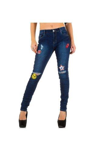 Rjonaco Dames Jeans van Rjonaco - blauw