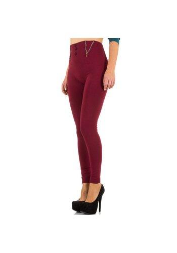 Best Fashion Dames legging van Best Fashion one size - bordeaux