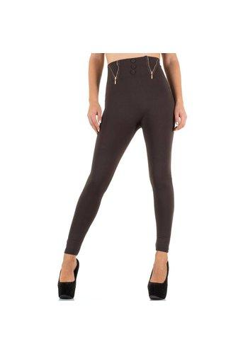Best Fashion Dames Leggings van Best Fashion one size- Bruin
