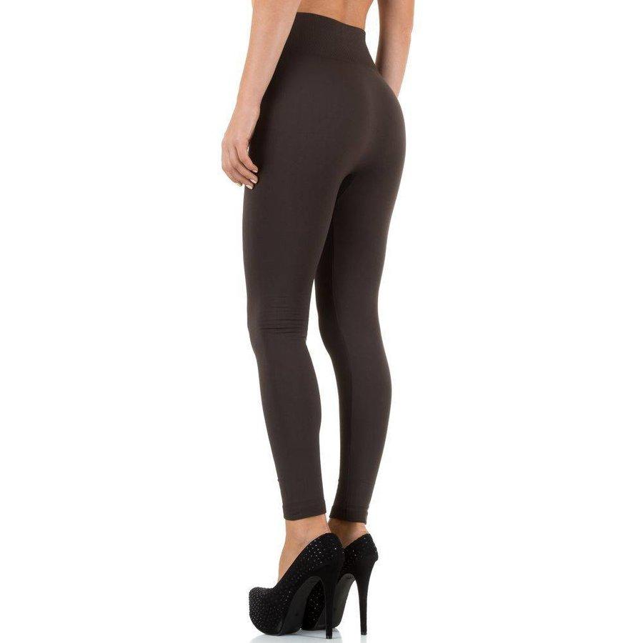 Dames Leggings van Best Fashion one size- Bruin