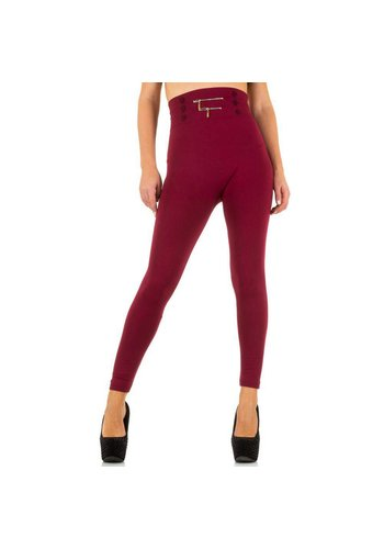Best Fashion Dames Leggings van Best Fashion one size- Donker Rood