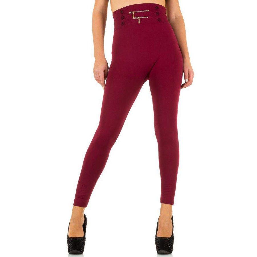 Dames Leggings van Best Fashion one size- Donker Rood