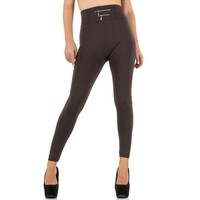 Dames Leggings van Best Fashion one size - Taupe