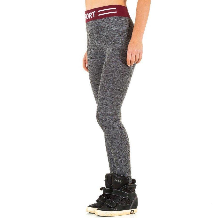 Dames legging van Best Fashion Gr. one size -grijs/bordeaux