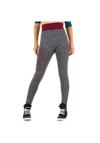 Best Fashion Dames legging van Best Fashion Gr. one size -grijs/bordeaux