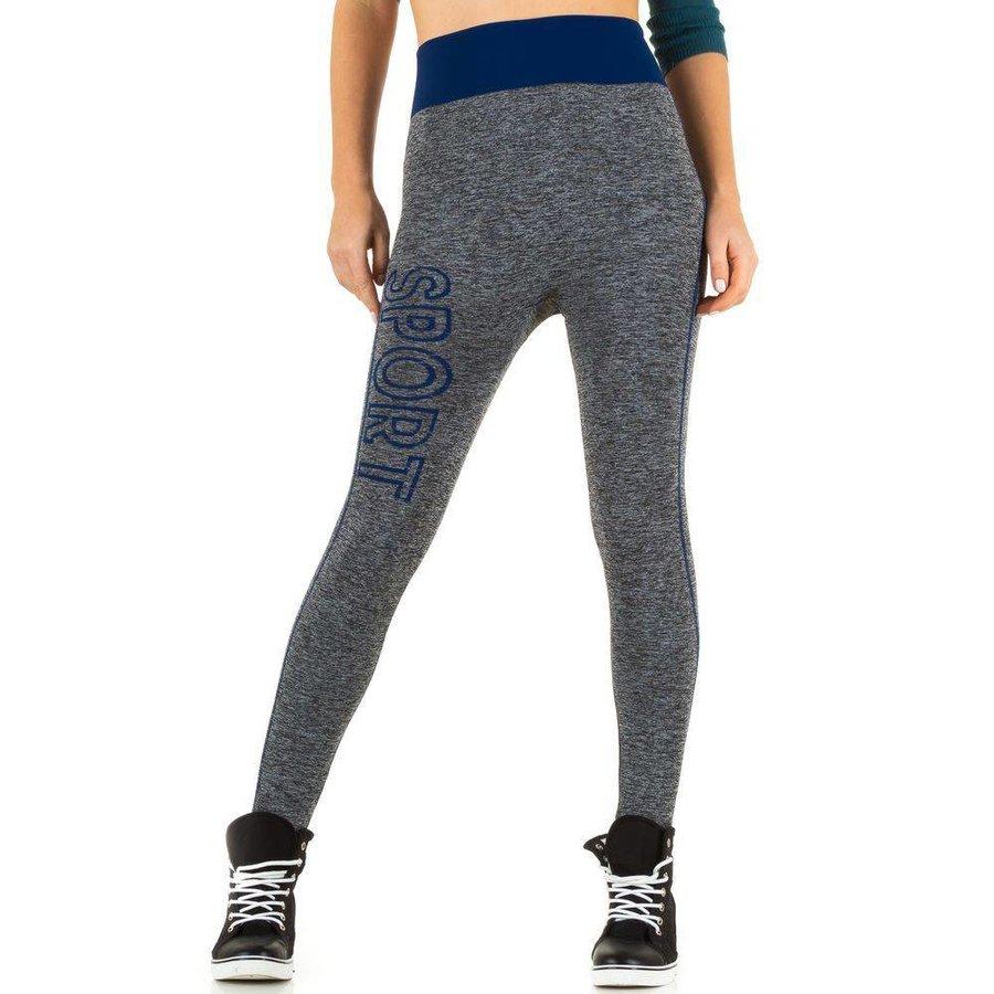 Dames legging van Best Fashion Gr. one size -grijs/blauw