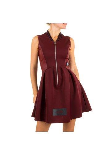 SIXTH JUNE Damen Kleid - dunkelrot