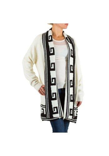 CHERRY BERRY Dames Vest van Cherry Berry - Wit