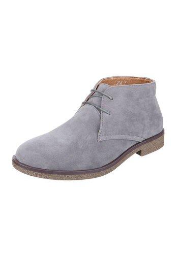 Neckermann Lederen casual boot - grijs