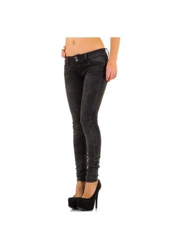 JUST F Dames Jeans van Just F - Donker Grijs