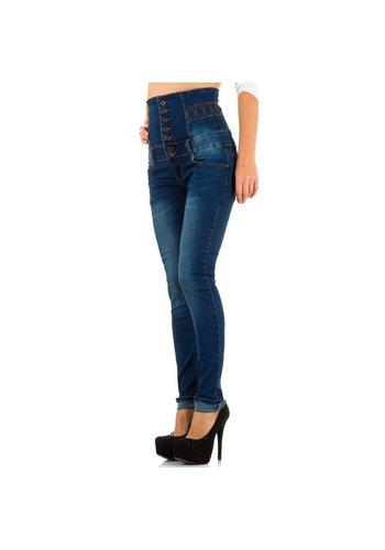 JUST F Hoge dames Jeans - Blauw