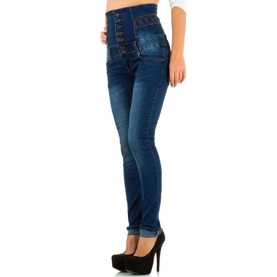 Hoge dames Jeans - Blauw