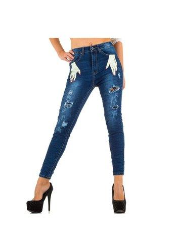 QUE RMES Damen Jeans von Que Rmes - blue
