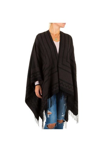 Best Fashion Damen Poncho von Best Fashion Gr. one size - brown