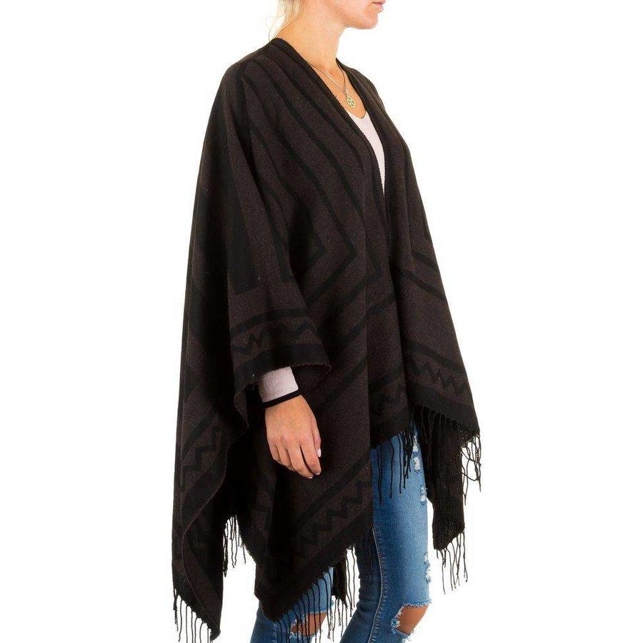 Damen Poncho von Best Fashion Gr. one size - brown