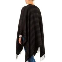 Dames Poncho van Best Fashion one size - Bruin