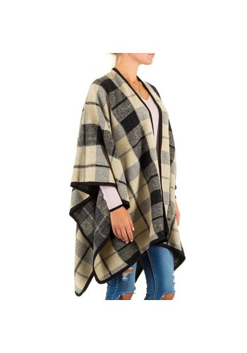 Best Fashion Dames Poncho van Best Fashion one size - Cream