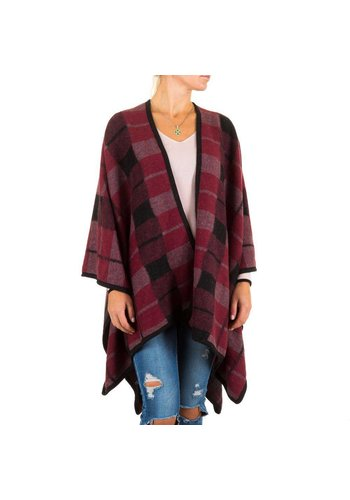 Best Fashion Damen Poncho von Best Fashion Gr. one size - bordeaux