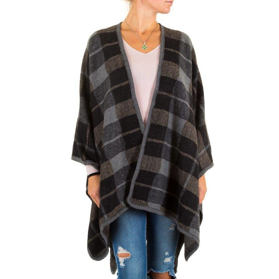 Dames Poncho van Best Fashion one size - Zwart