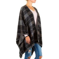 Damen Poncho von Best Fashion Gr. one size - black