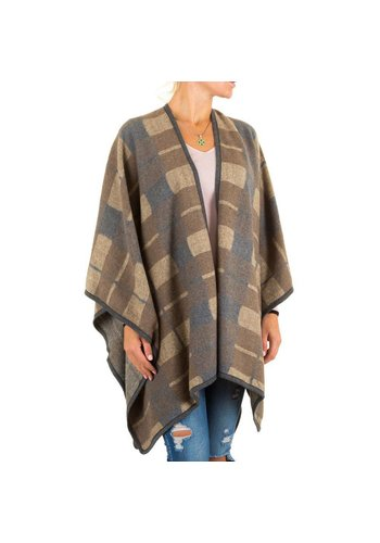 Best Fashion Dames Poncho van Best Fashion one size - Beige