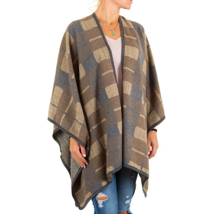 Dames Poncho van Best Fashion one size - Beige