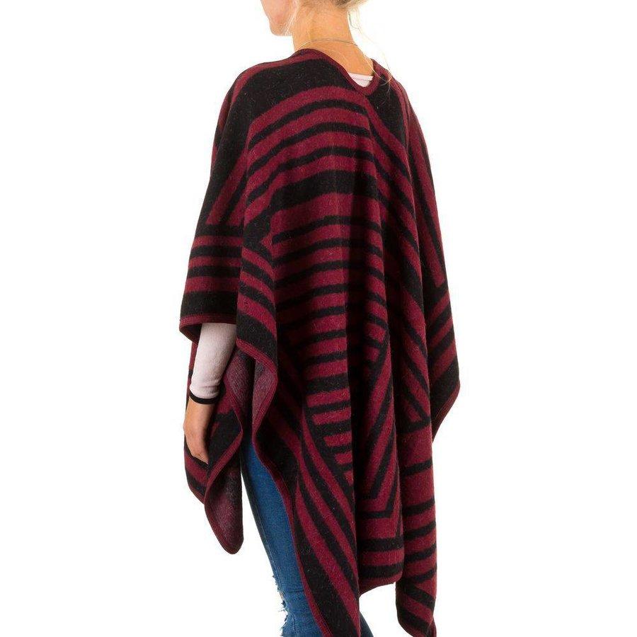 Damen Poncho von Best Fashion Gr. one size - wine