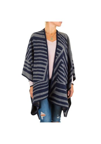 Best Fashion Damen Poncho von Best Fashion Gr. one size - blue