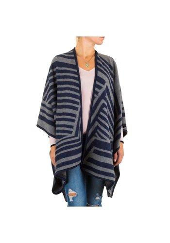 Best Fashion Dames Poncho van Best Fashion one size - Blauw