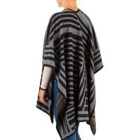 Damen Poncho von Best Fashion Gr. one size - black