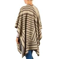 Damen Poncho von Best Fashion Gr. one size - beige
