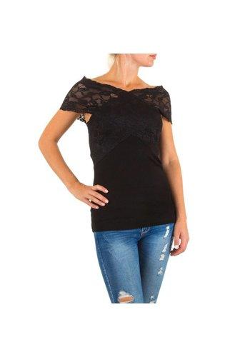 MOEWY Damen Bluse von Moewy Gr. one size - black