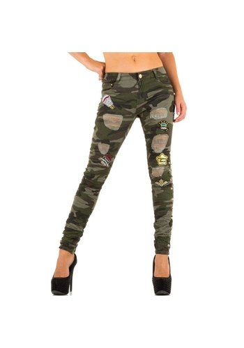 ORIGINAL DENIM Dames Jeans van Original Denim - Army Groen