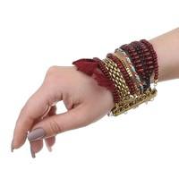 Damen Armband - bordeaux