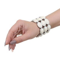 Damen Armband - white