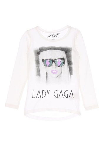 C&A Kinder T shirt van Lady Gaga - wit