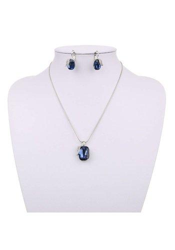 Neckermann Dames halsketting - Donker blauw