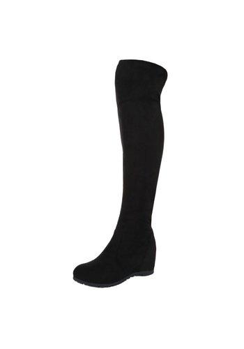 Neckermann Dames Overknee Laarzen - Zwart