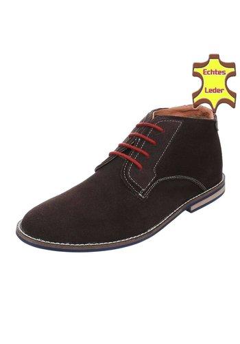 Neckermann Lederen casual boot - bruin