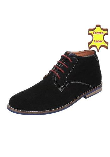 Neckermann Lederen casual boot - zwart