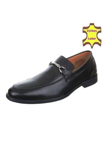 Neckermann Lederen business schoen - zwart