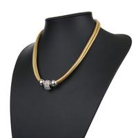 Damen Halskette - yellow
