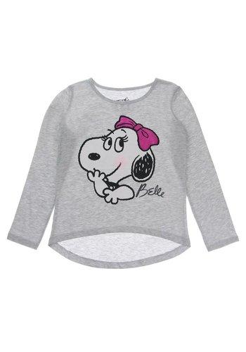 Markenlos Kinder Langarmshirt von His Sister Belle Snoopy - grey
