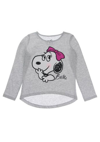 Markenlos Kinder Sweater van His Sister Belle Snoopy - Grijs
