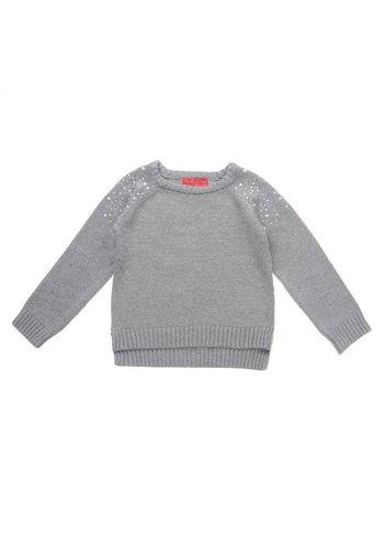Markenlos Kinder Pullover von Funky Diva - grey