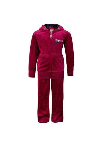 Markenlos Kinder jogging pak Van Seven Red Donker Rood