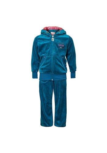 Markenlos Kinder jogging pak Van Seven Red turquoise