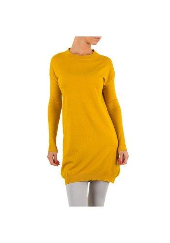 JCL Damen Pullover von Jcl - yellow
